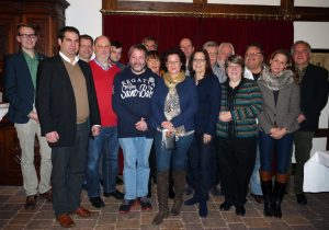 Der neue Vorstand 2015/2016 v.l.n.r.: M. Engelke, E. Winnicki, J. Capellmann, H. Döhrmann, N. Wolff, F. Kumm, R.Frank, A. Stache, M. Michalowitz, A. Bents, B. Frank, R. Deppe, R. Waldmann, R. Strothmann, R. Günther, B. Nolte, Dr. J. Wilhelms